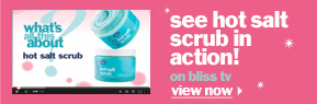 bliss hot salt scrub in action on bliss tv!