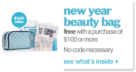free beauty bag! no code required