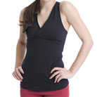 aziam athena v-neck sport top (black)