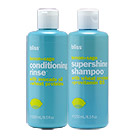 bliss supershine shampoo + conditioning rinse set