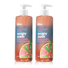 bliss grapefruit + aloe soapy suds set of 2