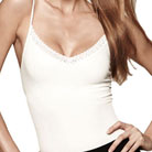 cass luxury shapewear v-cami top with lace