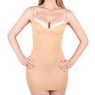 shape &amp; slim sculpt activwear corrective body slip (nude)
