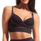 dMondaine bridget contour longline bra (black/nude)