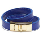 cc skye double wrap portico bracelet (blue + gold)