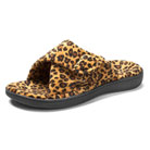 orthaheel relax slipper (tan leopard)