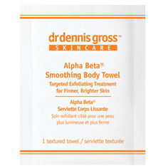 dr. dennis gross alpha beta smoothing body towel (8 treatments)