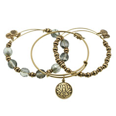 alex + ani lotus peace petal bangle set