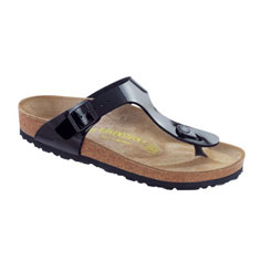 birkenstock gizeh sandal (black patent)