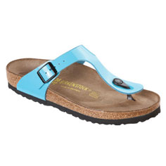 birkenstock gizeh sandal (scuba patent blue)