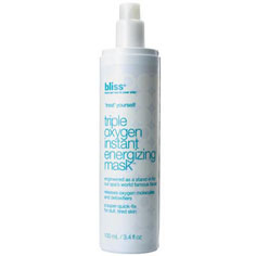 bliss triple oxygen™ instant energizing mask