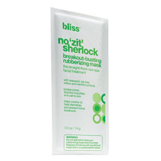 bliss no zit sherlock breakout-busting rubberizing mask 6 pack