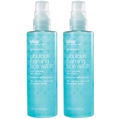 bliss fabulous foaming face wash set of 2