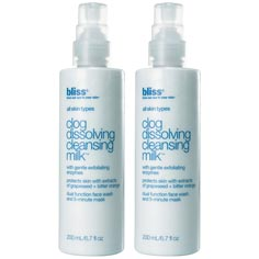 bliss clog dissolving cleansing milk set of 2