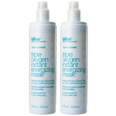 bliss triple oxygen instant energizing mask set of 2