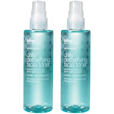 bliss daily detoxifying facial toner set of 2