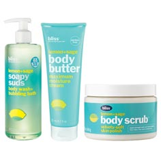bliss 'zest' to thrill lemon + sage body care set