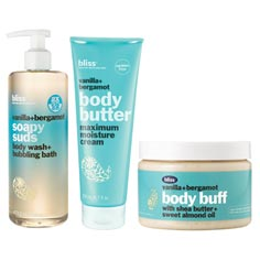 bliss vanilla + bergamot body care bundle