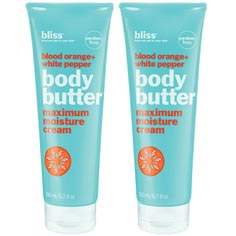 bliss blood orange+white pepper body butter set of 2
