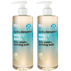 bliss vanilla+bergamot soapy suds set of 2