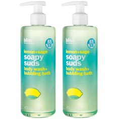 bliss lemon+sage soapy suds set of 2