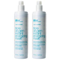 bliss triple oxygen energizing mask set of 2