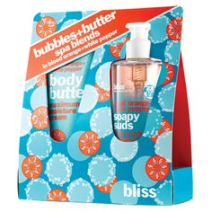 bliss bubbles+butter spa blends in blood orange+white pepper