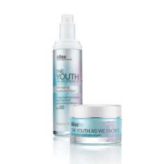 bliss the youth as we know it moisture cream and SPF 30 lotion duo