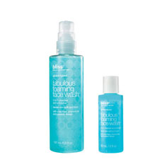 bliss fabulous foaming face wash mega+mini set