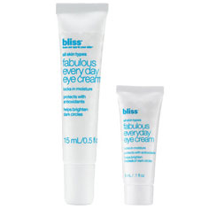 bliss fabulous everyday eye cream mega+mini set