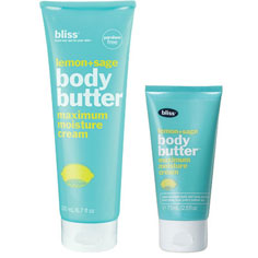 bliss lemon+sage body butter mega+mini set