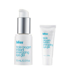 bliss triple oxygen(tm) instant energizing eye gel mega+mini set