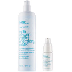 bliss triple oxygen™ instant energizing mask mega+mini set