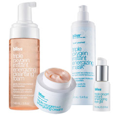 bliss triple oxygen grab-and-glow set