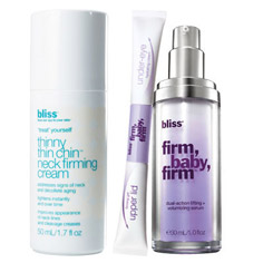 bliss firm, baby, firm + thinny chin chin trans-'firming'-ing trio