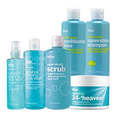 bliss fresh start bath + body bundle
