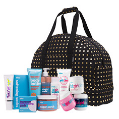 bliss + kate spade saturday beach body prep tote