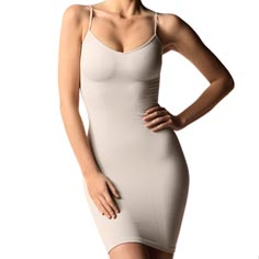 cass shaping v-cami dress