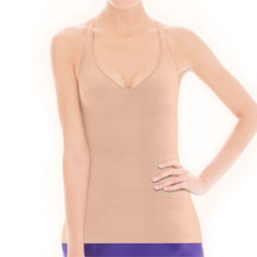 cass invisibellas® amp top x back (nude)