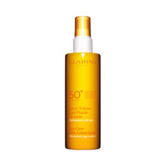 clarins sunscreen care milk-lotion spray spf 50