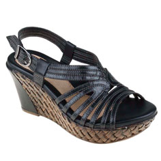 earth paradise sandal (black)