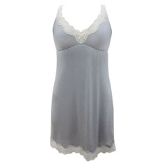 eberjey lady godiva chemise (slate)