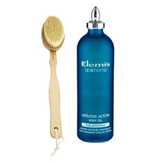 elemis cellutox active body concentrate + body detox skin brush