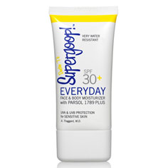 supergoop! spf 30+ everyday uv face and body lotion 1.5 oz