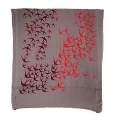 leigh & luca bird ombre flock scarf