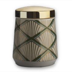 illume balsam & cedar starlet ceramic candle