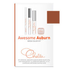 chella awesome auburn eyebrow color kit