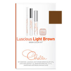 chella luscious light brown eyebrow color kit
