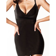 resultwear victoria full mesh smoothing slip (black)
