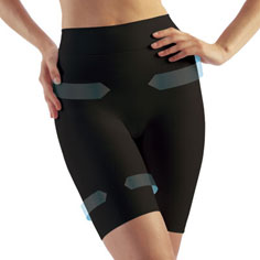 farmacell double-layer shaping shorts (black)